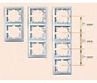 Рамка Lezard 3-я вертикальная белая