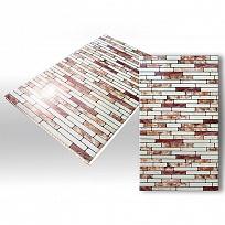 ПВХ панель  2700х250х7  Плитка Бордо