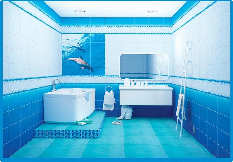 ПВХ панель  2700х375х8 Дельфины