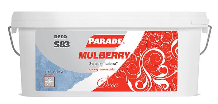 Декоративное покрытие Parad S83  эффект шелк 4кг