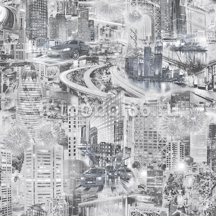 453-06 ОБОИ 0,53*10 м  бумажные Форсаж-О дпл сер
