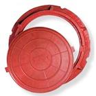 Люк полимерный 110 мм х ф-760 мм (красный), масса 38 кг, нагрузка 7 т