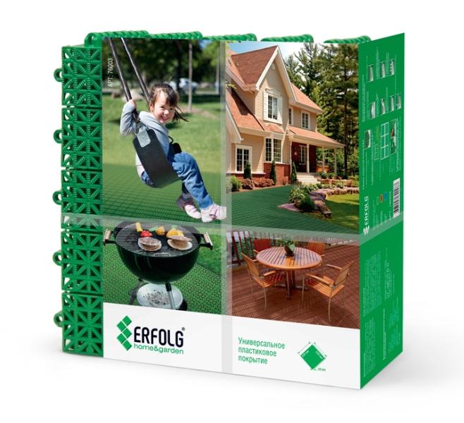 Покрытие ERFOLG home and garden коричневое(уп)
