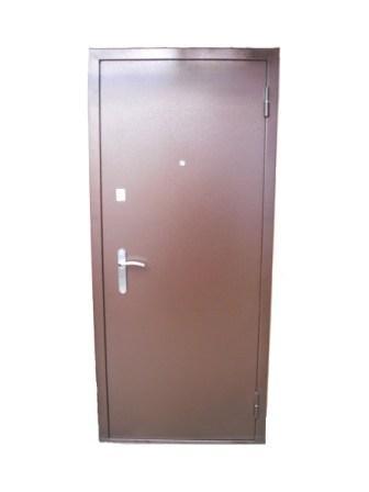 Дверь метал. П1-419С 1103 милан. орех 870 L (витрина)