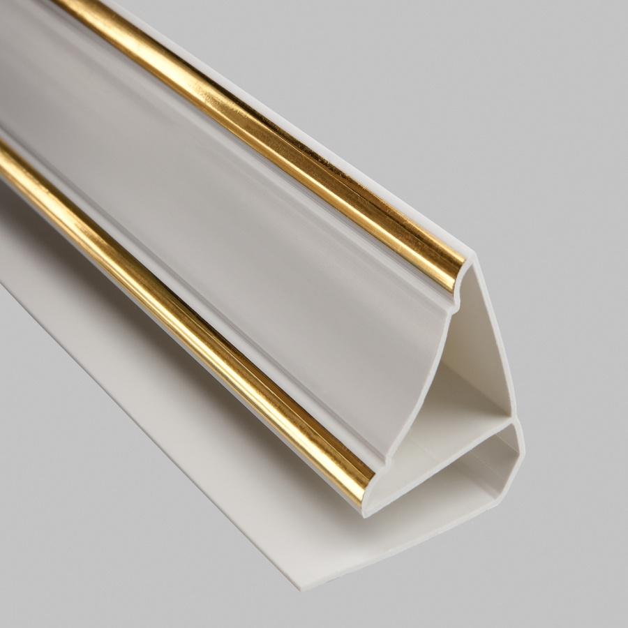 Профиль ПВХ Верхний плинтус 8мм, 3 м Gold Line
