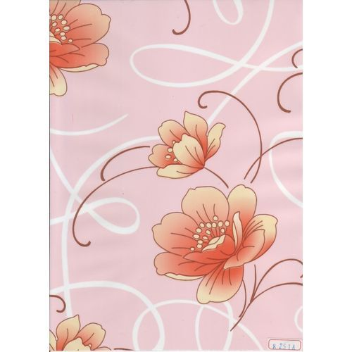 Пленка с/к 0,45м*8м 8251А  D&B беж цветы на роз фоне