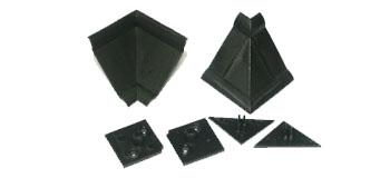 Комплект фурнитуры для столешниц черный (1внутр.угол+2загл.)