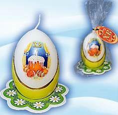 Свеча в виде яйца Кулич