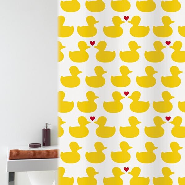 Штора для ванны 180*200 Bath Duck желт