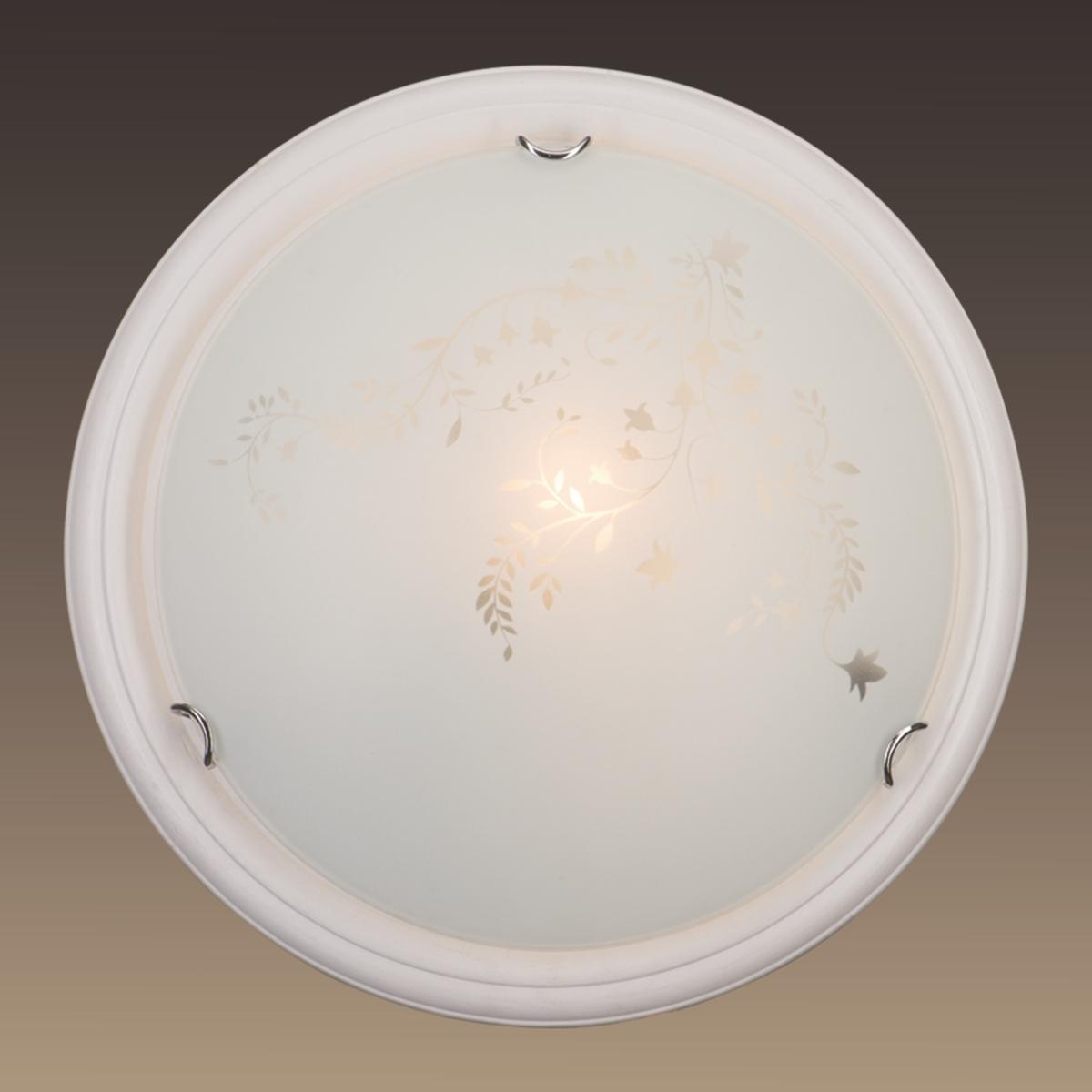 Светильник Сонекс 101/К,бел.дер.хром/бел/декор