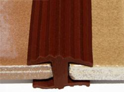 Противоскользящий Н-образный ШОВ 8 мм коричневый