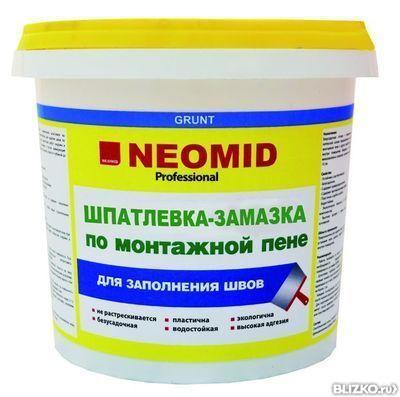 Шпатлевка готовая Неомид по монтажной пене 1,4кг