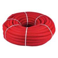 Кожух защитный гофрированный 16мм красный