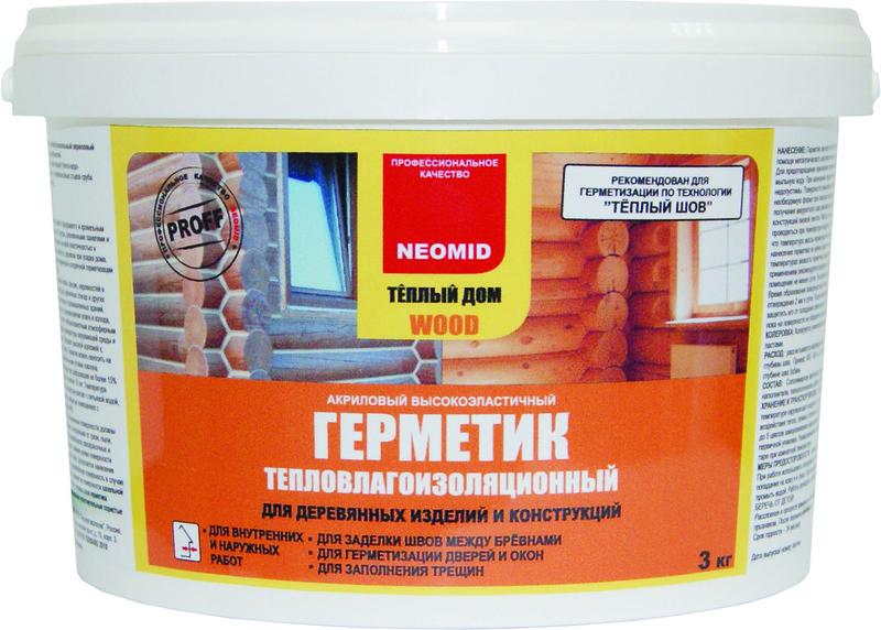 Герметик NEOMID строительный д/дерева сосна 15кг