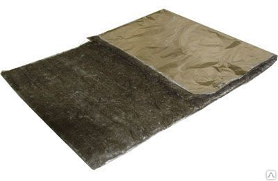 Базальтовый лист с фольгой 1000х600х5-6 мм