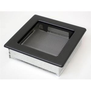 Решетка вент. для камина 170х170 мм графит