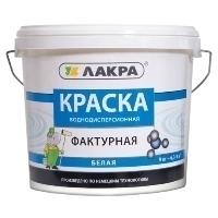 Краска фактурная ЛАКРА 9 кг белый