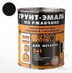 Грунт-эмаль по ржавчине 3 в 1  DALI 0,75л черная