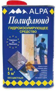 Гидроизоляция Полифлюид 5л ALPA для осушения влажных помещений