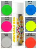Краска аэрозоль KUDO 520мл флуорисцентная лимонно-желтая