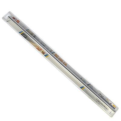 Комплект Рейлинг 80см + 2 держателя + 2 заглушки + 6 крючков хром сталь, арт.28 03 03