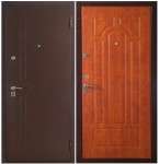 Дверь метал. 363К 1004 итал. орех 870L(витрина)