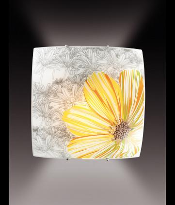 Светильник Сонекс 1234,никель/бел.желтый/зеленый