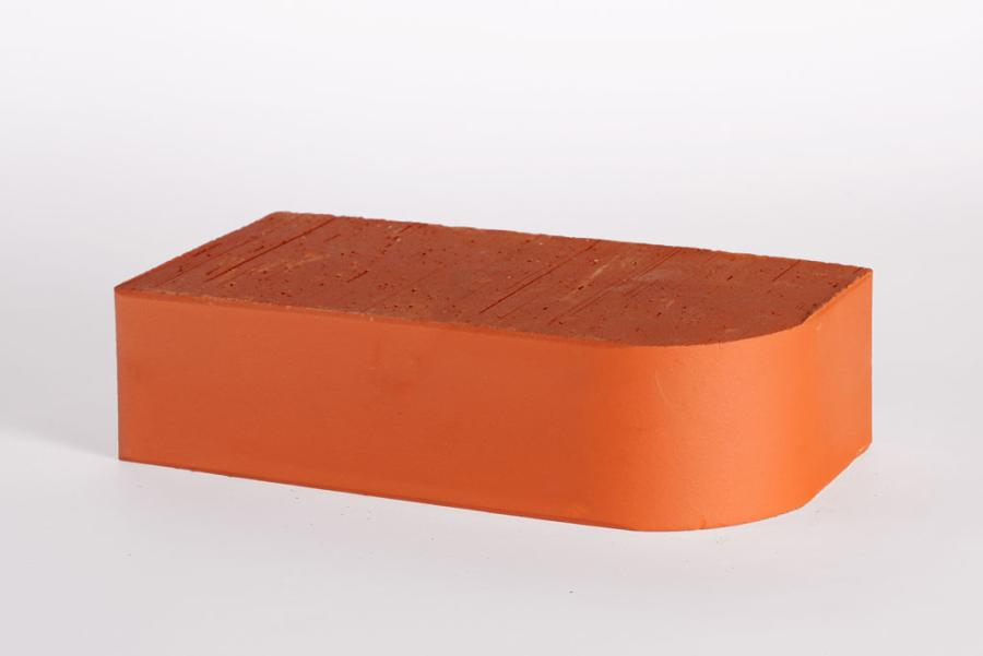 Кирпич каминный один. красный М-500 R-60 RAUF закругленный (поддон -256 шт.)