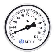 Термометр биметаллический ф63 мм, гильза 50 мм c погружной гильзой