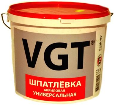 Шпатлевка готовая ВГТ универсальная акриловая 18кг