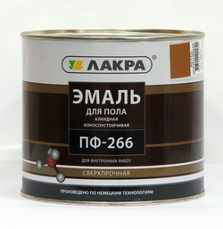 Эмаль ПФ-266 для пола желто-коричневый 3 кг (Лакра Синтез)
