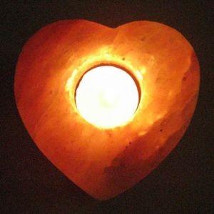 Светильник настол.солевой Подсвечник сердце SLC-12022