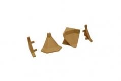 Комплект фурнитуры для столешниц бежевый (1внутр.угол+2загл.)