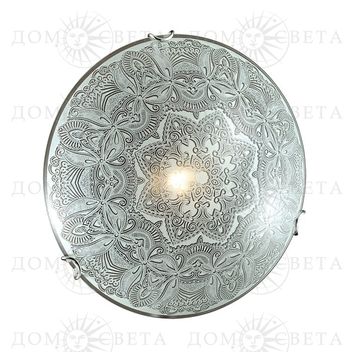 Светильник Сонекс 176/К,хром/бел/декор
