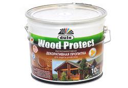 Пропитка Дюфа Wood Protect 10л бесцветный д/защиты древесины