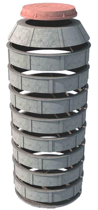 Кольцо 1060/250 черный, зеленый пластик