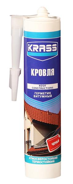 Герметик КRASS для кровли битумный черный 300 мл (Польша)