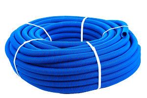 Кожух защитный гофрированный 16мм синий