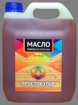 """Масло для древесины льняное """"Простоколор"""" 3л"""