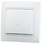 Выключатель Lezard 1-клав. проход бел.701-0202-105