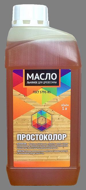 """Масло для древесины льняное """"Простоколор"""" 1л"""