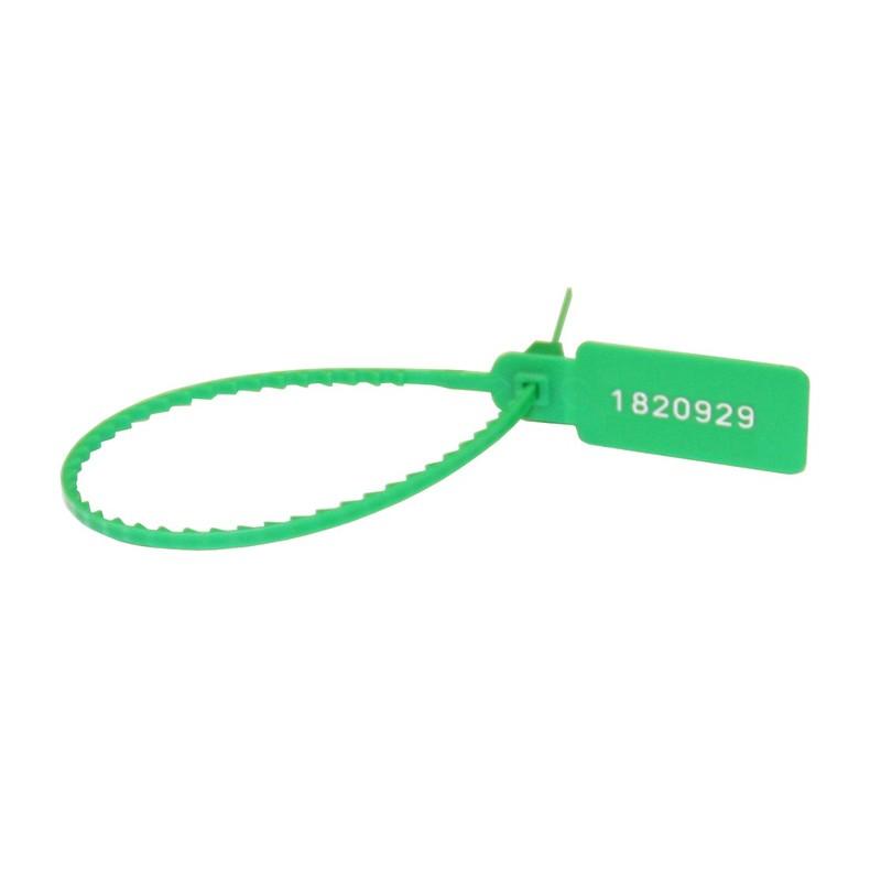 Пломба пластиковая,номерная 220мм,зеленая Рексант 07-6113