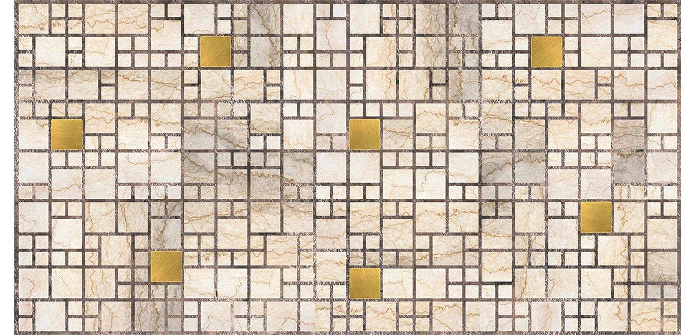 ПВХ панель Мозаика мрамор с золотом (955х480мм)