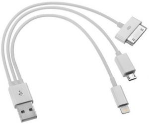 Провод USB для сотового телефона 3 гнезда