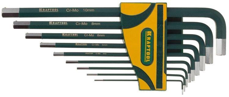 Набор ключей  имбусовых 1,5-10мм KRAFTOOL (9шт)