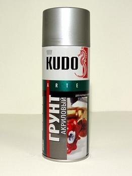 Грунтовка аэрозольная KUDO алкидная серая 520мл