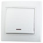Выключатель Lezard 1-клав. с подс. белый 701 0202 111