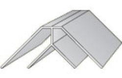 Профиль ПВХ Угол внутренний 8 мм, 3м белый