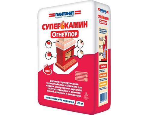 ПЛИТОНИТ Огнеупор - 20 кг раствор для кладки огнеупорных кирпичей