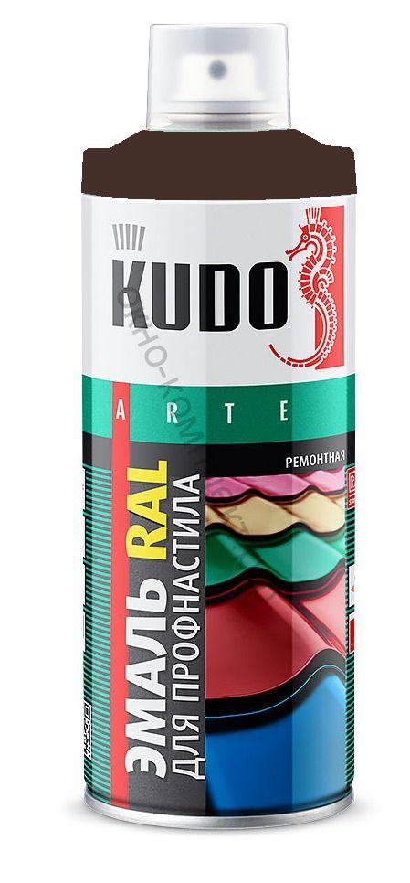 Краска аэрозоль KUDO 520мл шоколад-коричневый RAL8017